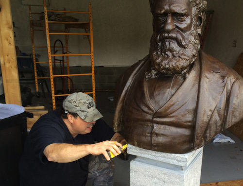 John Purple Howard's Historic Bust Returns to Old Mill